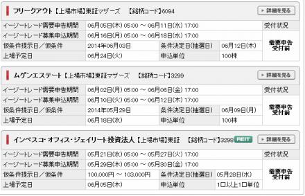 SNBC日興証券 IPO申込可能