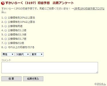 IPO読者アンケート