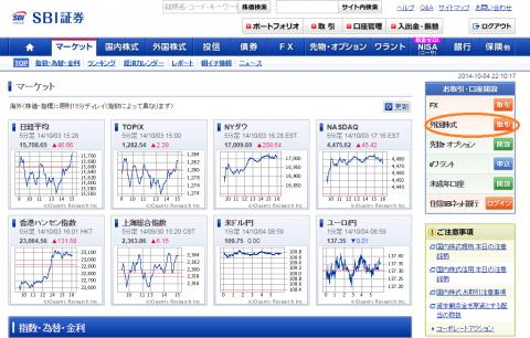 SBI証券の外国株式無料口座開設