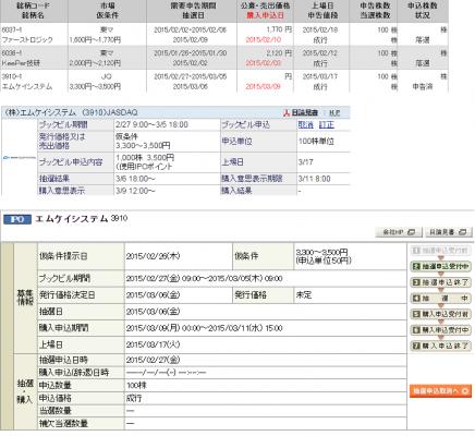 岡三オンライン証券 IPO当選・落選