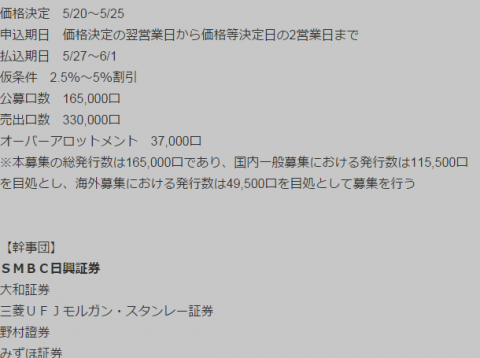 日本賃貸住宅投資法人(8986)公募増資日程