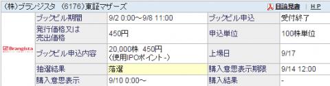 ブランジスタ(6176)東証マザーズIPO