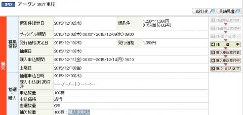 丸三証券IPO当選or落選