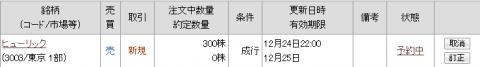 ヒューリック株主優待(3003)