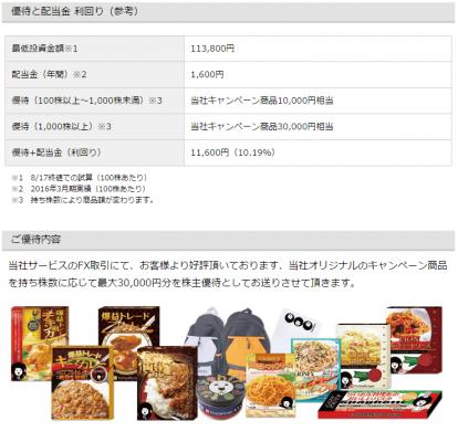 ヒロセ通商(7185)株主優待条件