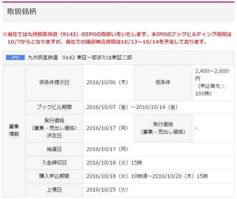 岡三オンライン証券JR九州(9142)取扱いあり