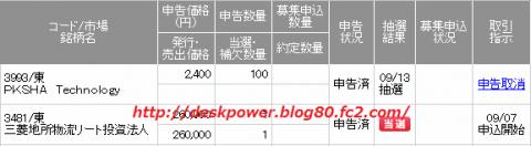 三菱地所物流リート投資法人IPO当選