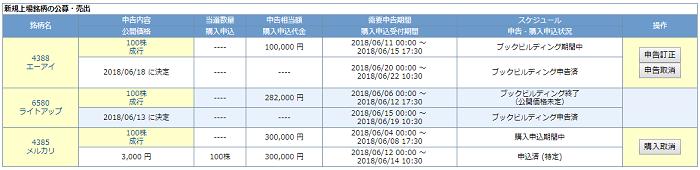 岩井コスモ証券IPO申込画像