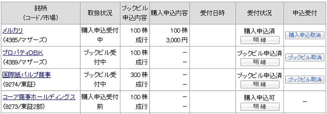 カブドットコム証券IPO当選申込