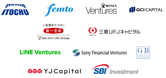 クラウドクレジットに出資しているベンチャー企業の名前