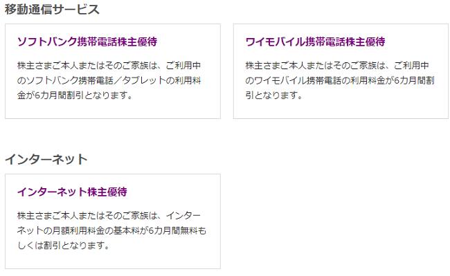 ソフトバンク株主優待