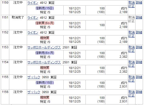 株主優待追加画像12月分