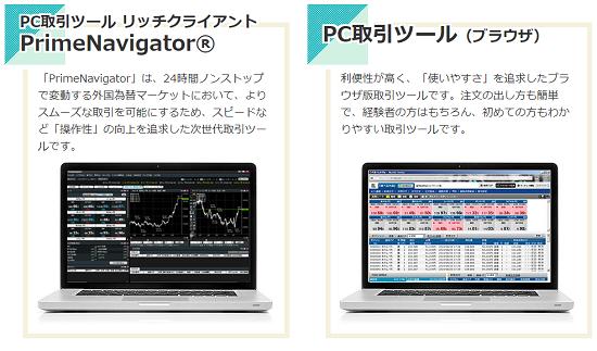 FXプライム取引ツールPC用