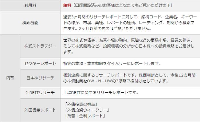 三菱UFJモルガン・スタンレー証券レポート