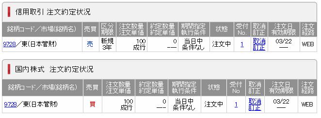 SMBC日興証券一般信用売建クロス取引