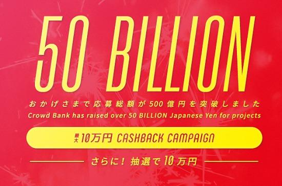 Crowd Bankキャンペーン10万円