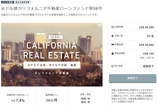 カリフォルニア不動産ローンファンド