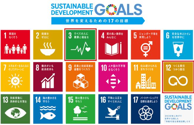 国連が提唱する持続可能な開発目標の画像