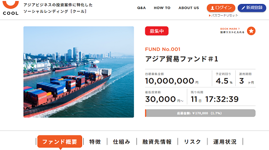 COOL(クール)投資でAmazonギフト券キャンペーン開始