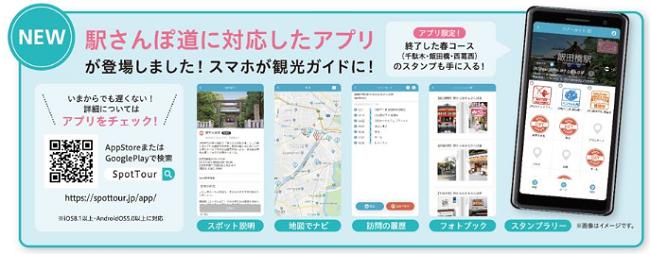 東京メトロ駅から始まるさんぽ道案内画像