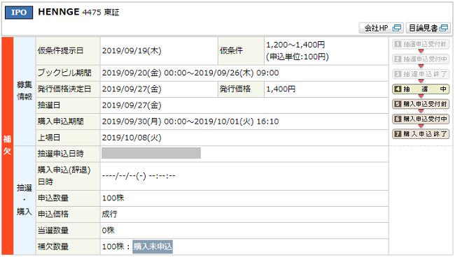 丸三証券IPO抽選結果