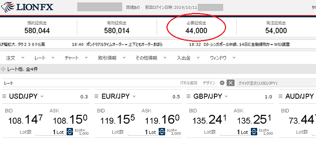 ヒロセ通商ドル円取引証拠金