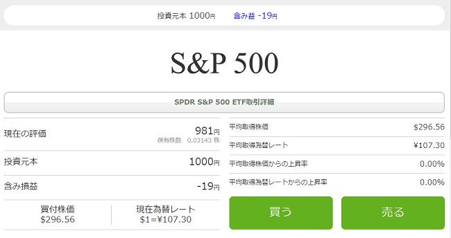 S&P500米国株約定