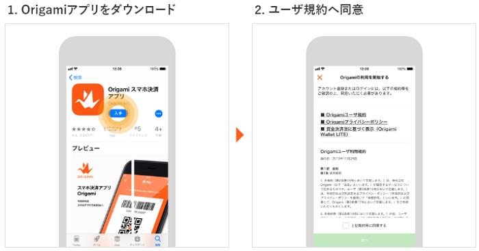 Origamiアプリのアカウント作成