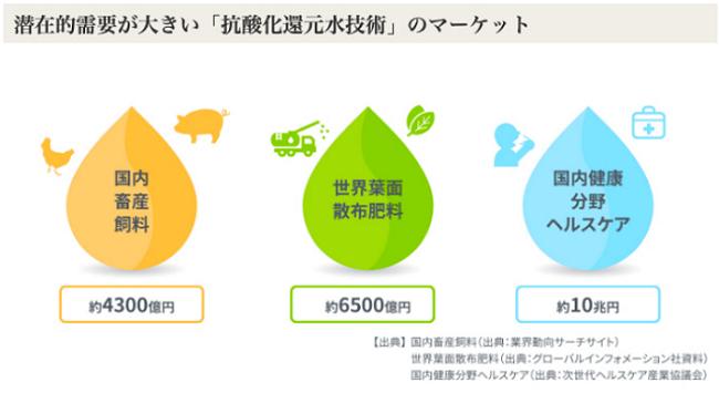 抗酸化カルシウムイオン水溶液の市場規模