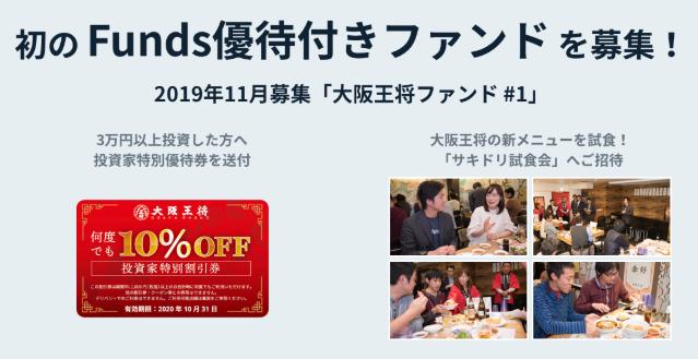 ファンズ株主優待付きファンド(大阪王将)