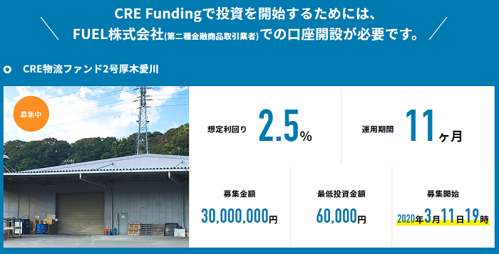 CRE Funding組成ファンド