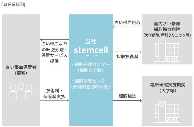 ステムセル研究所IPOの事業系統図