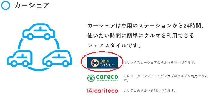 dカーシェアの提携企業