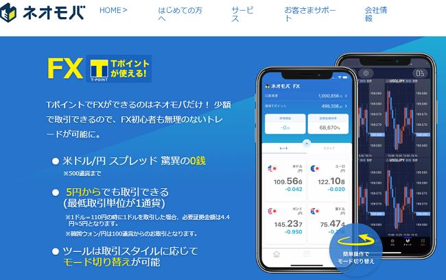 ネオモバイルFX(SBIネオモバイルFX)Tポイント投資