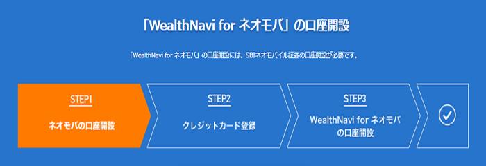 WealthNavi for ネオモバ口座開設方法