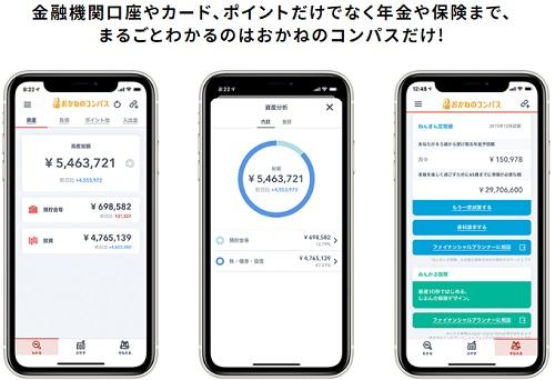 おかねのコンパスとは資産を見える化できるアプリ