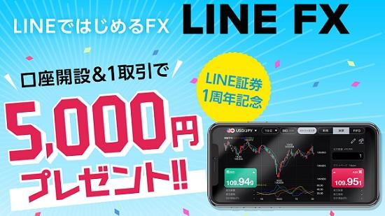 LINE FX口座開設キャンペーン(LINE証券1周年記念)