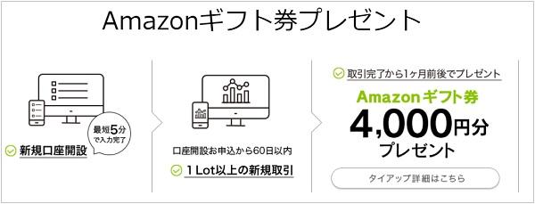 Amazonギフト券4,000円がDMM FXで貰える