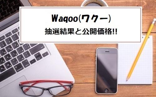 Waqoo(ワクー)IPOの抽選結果
