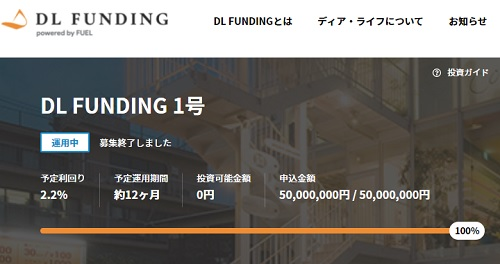 DL FUNDING1号ファンドの投資内容