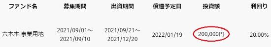COZUCHIでファンド申込完了